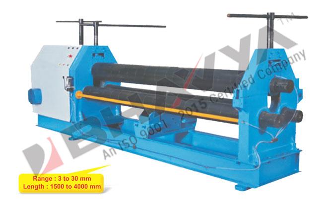 3 Roll Pyramid Type Mechanical Plate Bending Machine